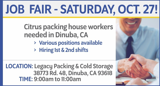 Job Fair in Dinuba, CA - Oct 27
